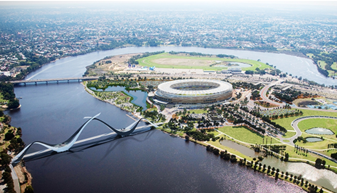 optus stadium with matagraup bridge